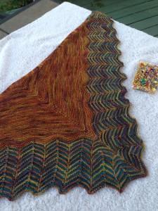 chelseas shawl blocking