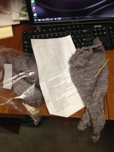 Knitting back where it belongs!