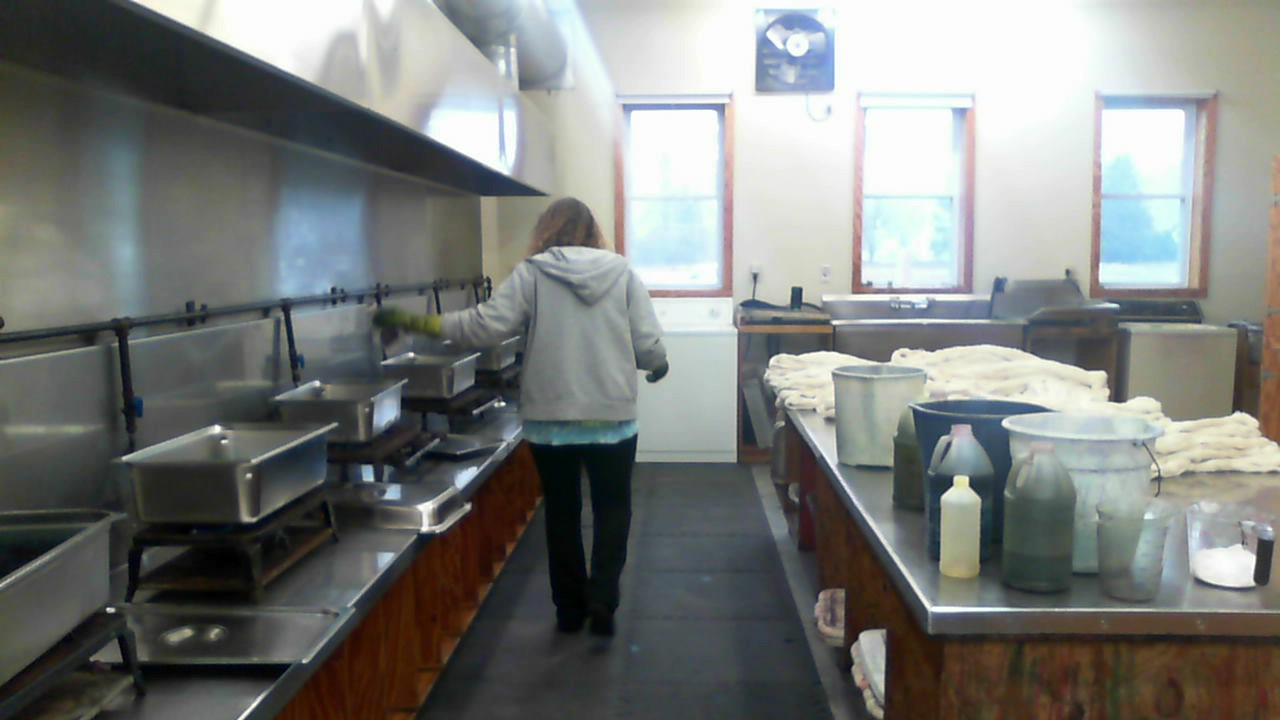 Cheryl Potter, working several batches at once