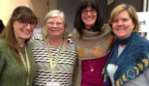 Anne, Cheryl Huffman, Jill Betts, Elaine Blatt - Madrona 2014.  It's a Molehill Farm reunion!