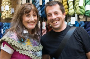 "Anne and Daniel Yuhas - friend, knitting teacher, author of ""Knitting from the Center Out"" and oh yes, Radar's dad!"