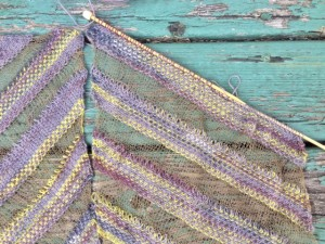 diagonal ribbons close-up