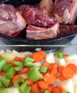 Making organic Beef stock.  Yum!