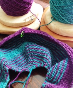 BMFA KAL, Clue 1.  Pattern by Shannon Squire, Yaksi Fingering yarn