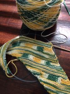 Strand Wanderer - Holiday Yarn sock yarn, pattern by Lea Viktoria Kube