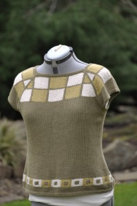 Raglan sweater with Classic Elite Allegoro, knit in 2008 when playing with the ITR technique for garments.