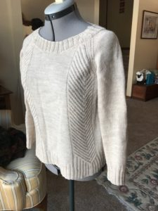 Messaline, designed by Bristol Ivy, knit with Cloudborn yarn.